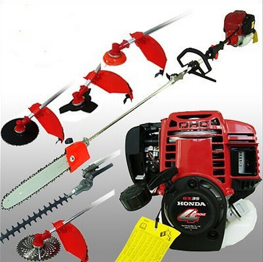 Original GX35 genuine 4 strokes Multifunction brush cutter Petrol Grass Trimmer, Brush/Bush Cutter Whipper Snipper 6 in 1