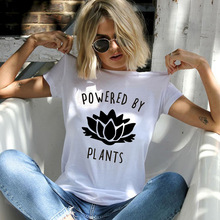 """POWERED BY PLANTS"" women shirt"