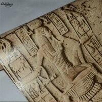 Beibehang 복고풍 pvc 특징 모조 조각 이집트 패턴 룸 탈출 벽지 현실적인 문자 예술 비디오