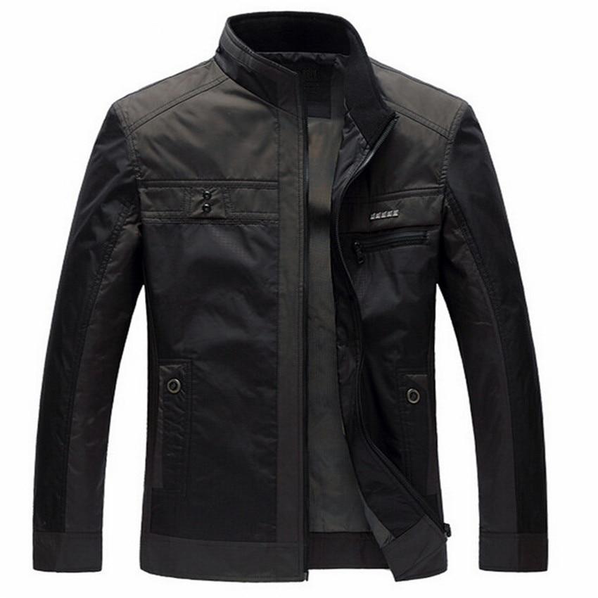 Men Jackets Spring Autumn New Leisure Men's Jacket Thin Business Men Coat 4XL Zipper Black Male Casual Style Stand Collar Jacket