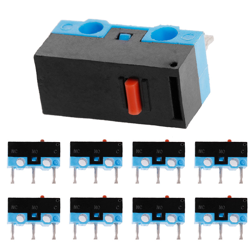 10 Piezas Interruptor De Botón De 3pin Ratón Interruptor Microinterruptor Para Razer Logitech G700 Ratón M18 Diversificado En Envases