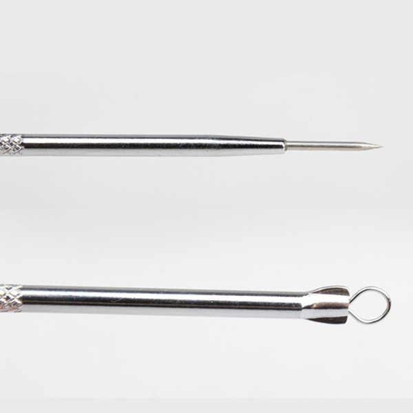 Nowe urządzenie do usuwania trądziku z zaskórnikiem narzędzie do twarzy ze stali nierdzewnej igła do usuwania pryszczy