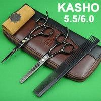 High Quality Kasho Scissors Japan 440C Professional Hairdressing Scissors Hair Cutting Scissors Thinning Scissors Set For