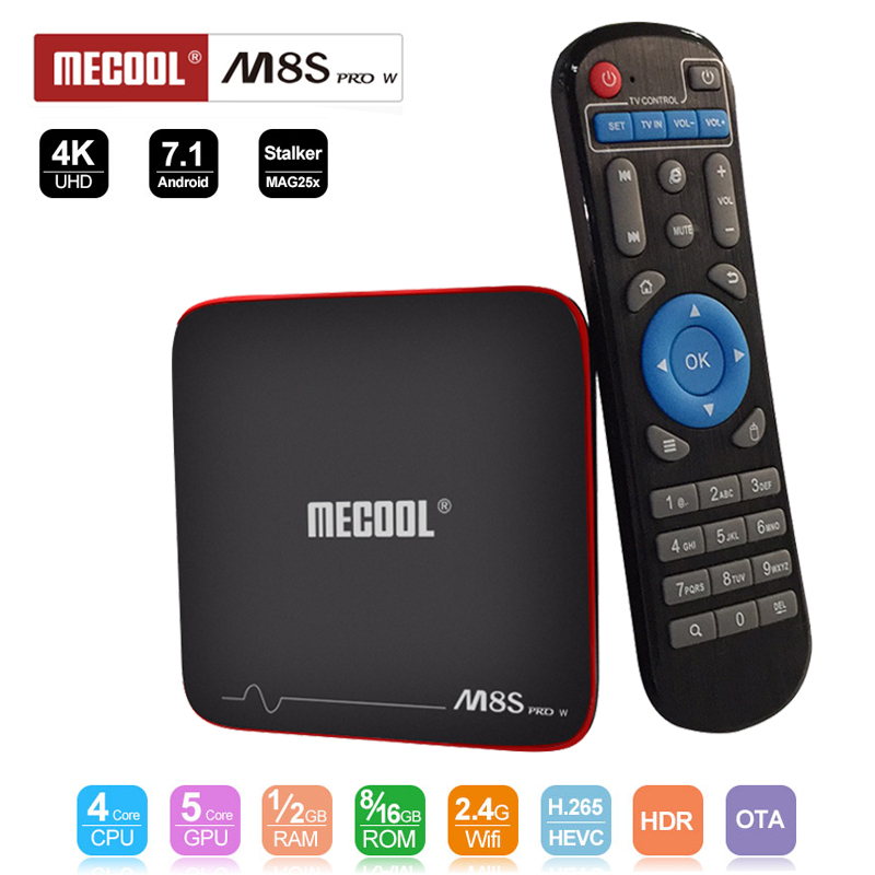Mecool M8S PRO W TV Box Android 7 1 Amlogic S905W Quad Core H265 HD 3D