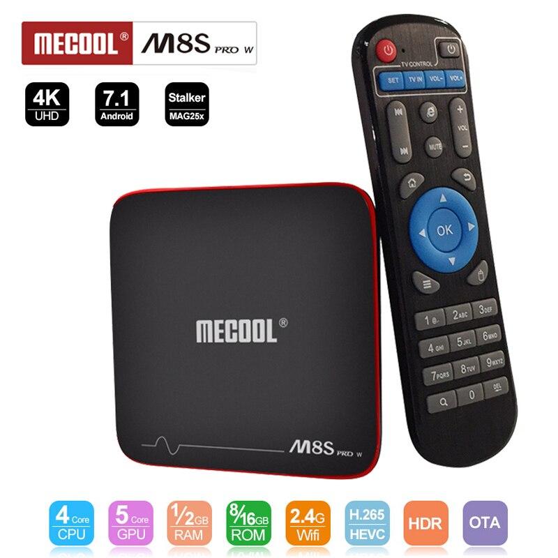 Mecool M8S PRO W TV Box Android 7.1 Amlogic S905W Quad Core H265 HD 3D 1/2GB RAM DDR4 8/16GB Android TV Box 4K Wifi Media Player