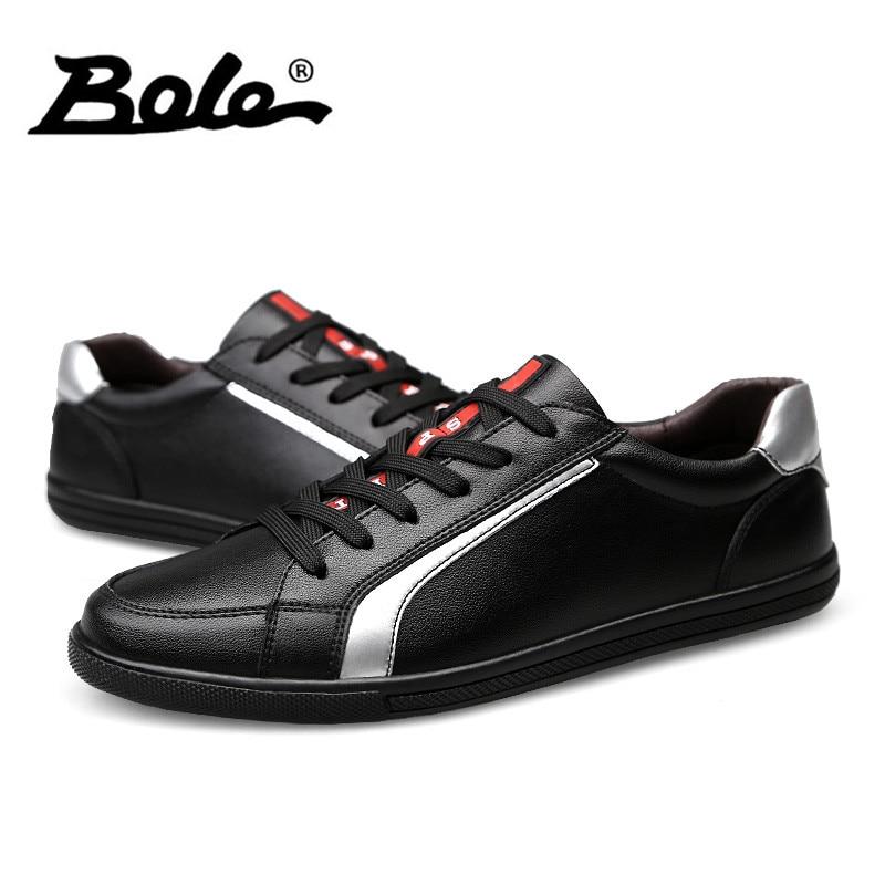 Grande 37 En 2018 Taille Hommes Appartements Qualité white black white Chaussures Cuir Nouveau 46 Bole blanc Casual Mocassins Confortable Véritable Noir OukPXZi