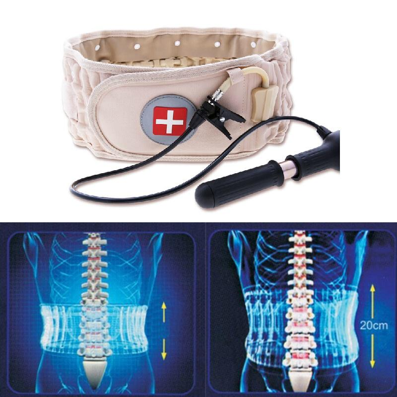 Naipo Personal Health Care Spinal Lower Waist Back Air Traction Physio Decompression Inflatable Belt Lumbar Pain Protactor Brace hailicare back relief belt waist brace support belt lumbar traction backach waist brace pain release health massager health care