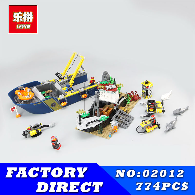 City Series LEPIN 02012 Deepwater Exploration Vessel Children Educational Building Blocks Bricks Toys Model Funny Boy Gift 60095 sermoido 02012 774pcs city series deep sea exploration vessel children educational building blocks bricks toys model gift 60095