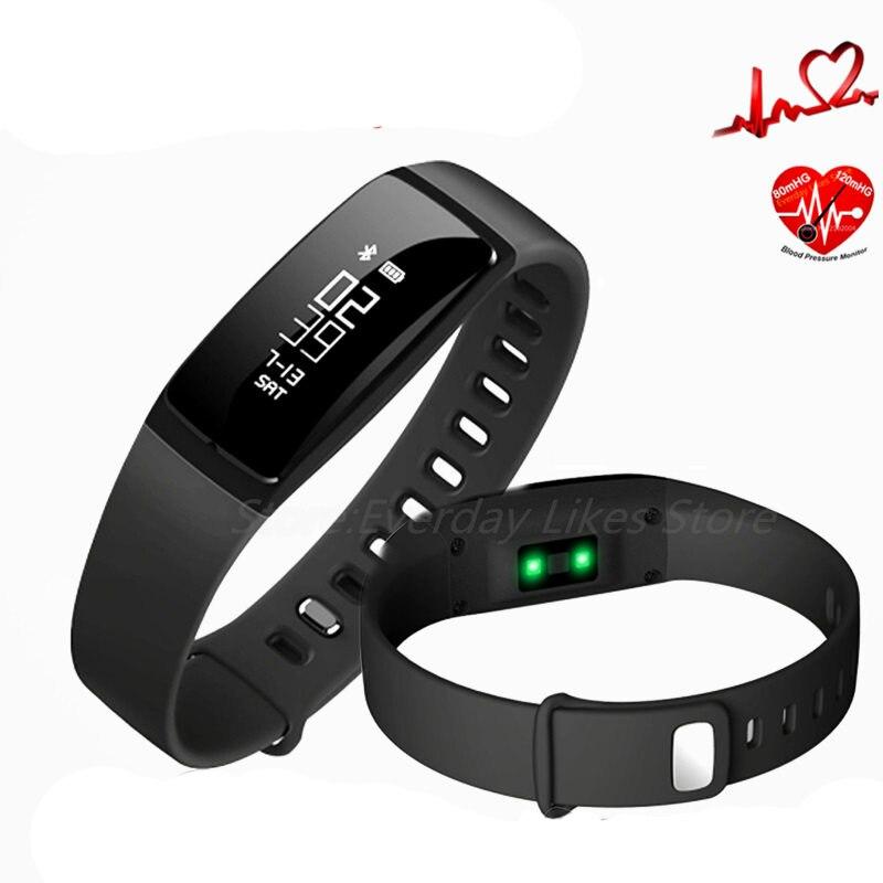 imágenes para V07 Inteligente Sport Wristband Pulseras Bluetooth Heart Rate Monitor de Presión Arterial Monitor de Sueño Smartwatch para Android IOS Teléfono
