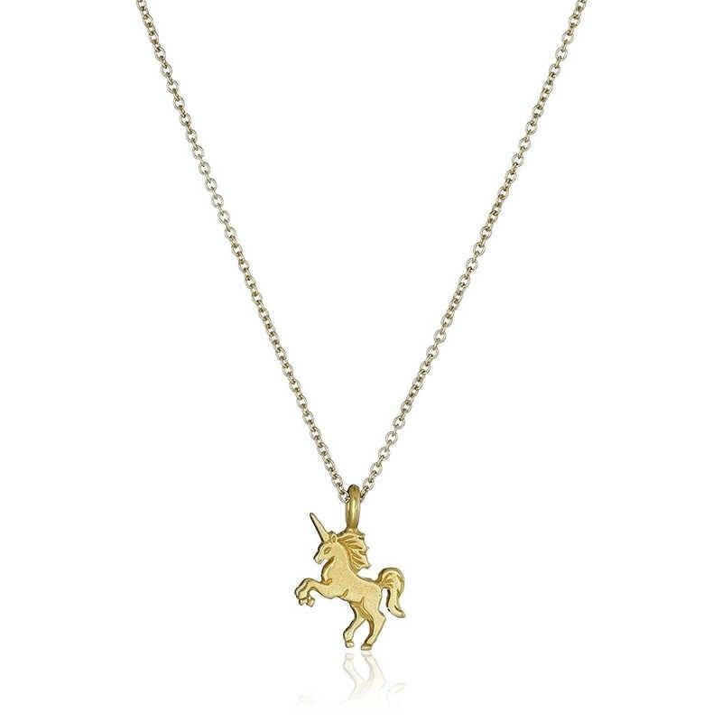 أزياء سبائك السحرية يونيكورن الحصان الذهب/الفضة قلادة قلادة للنساء سلسلة قصيرة تصل إلى عظمة الترقوة فتاة عطلة الشاطئ مجوهرات هدايا