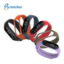 Mi band 3 Silicone wrist strap For Xiaomi Mi Band 3 Bracelet Strap Miband 3 Colorful Strap Wristband Smart Band mi band3