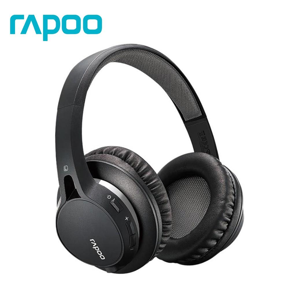 Casque de jeu stéréo Bluetooth double Mode Rapoo S200 et connexion filaire 3.5mm avec micro pour PC/ordinateur portable/téléphone casque Gamer