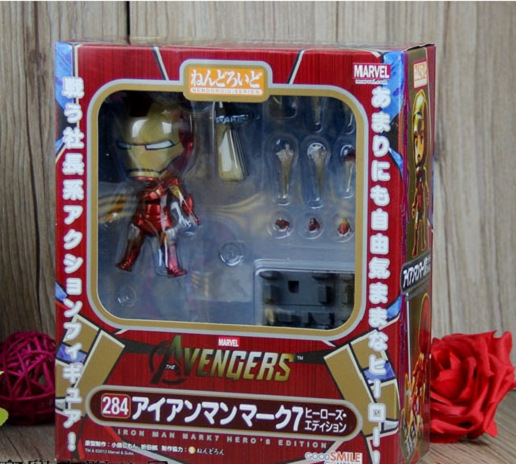 Iron Man Nendoroid movie cartoon Anime Action Figure PVC Collection Model toys brinquedos for christmas gift With retail box 1