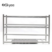 S SKYEE Open Air Mining Rig Non Stackable Frame Case For 16 GPU ETH BTC Ethereum