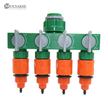 MUCIAKIE Garden Watering Drip Irrigation DIY Micro Drip System 4-Ways Water Hose Splitter 50m Hose Drippers ABS Tee Connectors