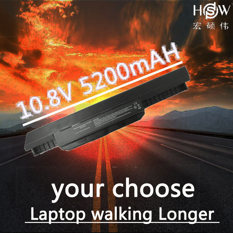 HSW Batterie D'ordinateur Portable A32-K53 pour ASUS A43E A53S K43E K43U K43S X54 X54H K43SJ X54C X84 batterie pour ordinateur portable K53T k53E K53SD X44H