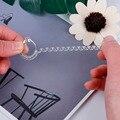 4 шт., прозрачные винтажные кольца на спирали, 10 см