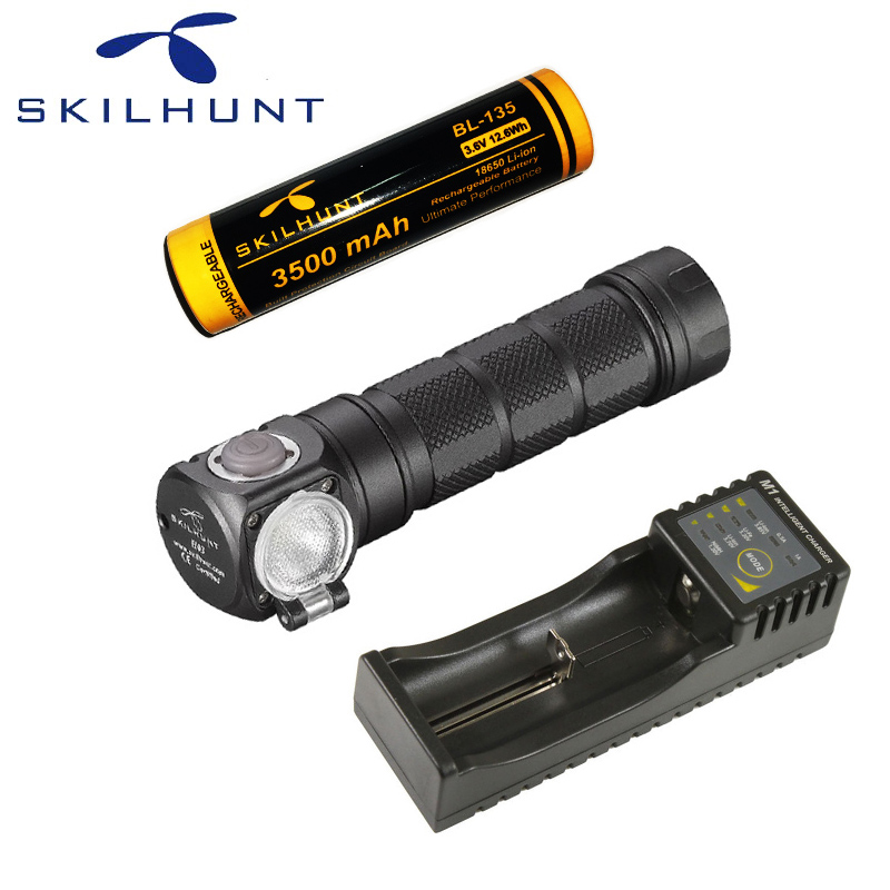 Nouveau Skilhunt H03F Led Lampe Frontale Cree XML1200Lm phare chasse pêche Camping phare + bandeau