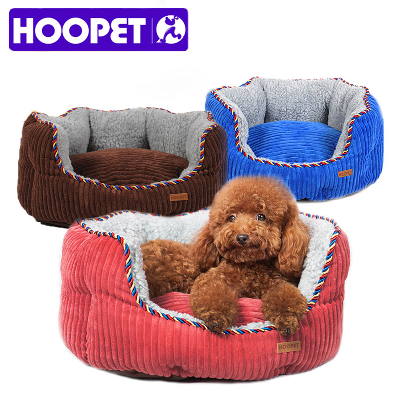 Hoopet All Seasons Bolster Sofa Pet Dog Cat Bed With