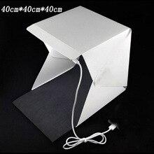 40 см Портативный Мини LED Фотостудия Box Фотография Фон встроенный высокий Свет Фото Коробка складная softbox с backgound новый