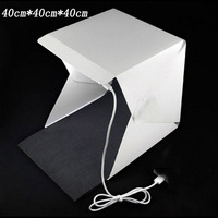 40cm Portable Mini LED Photo Studio Box Photography Backdrop built in high Light Photo Box foldable softbox with backgound new