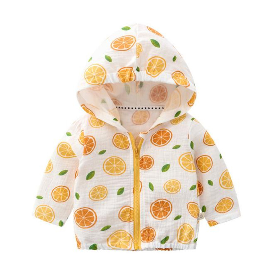 Coat Jacket Hooded Spring Autumn Baby-Girl Summer Boy Cotton Long-Sleeves Thin Kids
