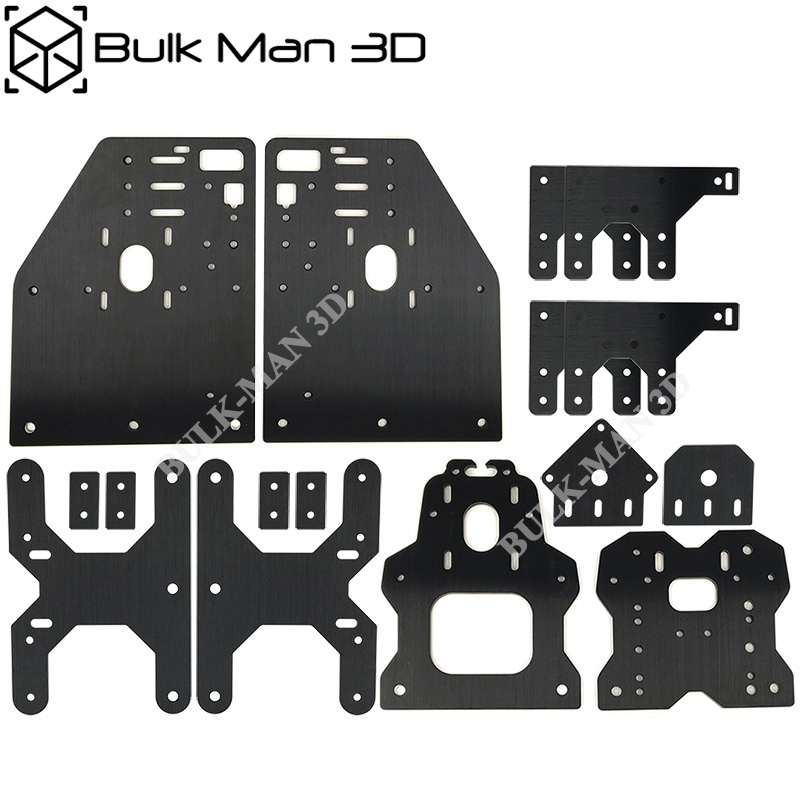 Aluminum Gantry Plates OX CNC Plates Kit for OX CNC Engraving Machine Nema23 Stepper Motor Plate