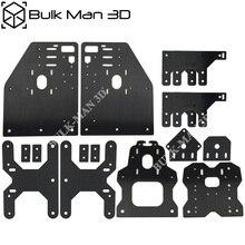 Plaques de portique en aluminium, Kit de plaques OX CNC pour Machine à graver OX CNC, plaque de moteur pas à pas Nema23, Version 17 pièces
