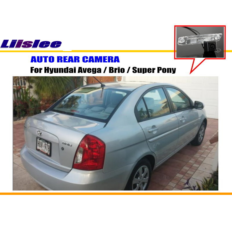 Liislee For Hyundai Avega / Brio / Super Pony - Reverse Back Up Camera / Parking Camera / NTST PAL / License Plate Light Camera