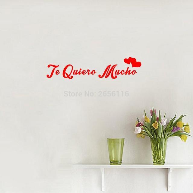 Spanisch Zitate Ich Liebe Dich So Viel Wandaufkleber Te Quiero Mucho ...