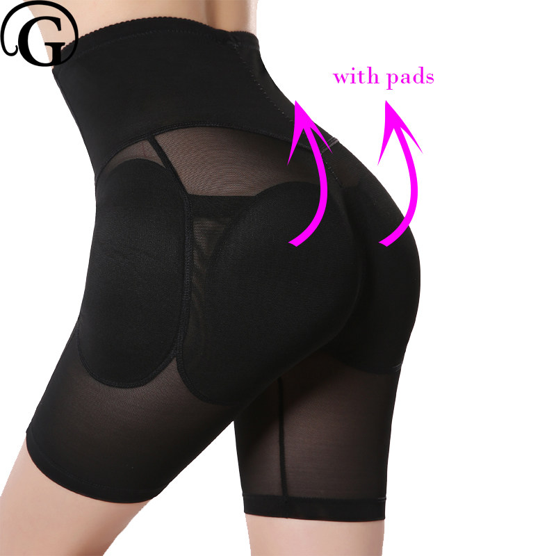 9595f9379da PRAYGER Plus Size Women Removable Pads Butt Lifter Control Panties High  Waist Slimming Belly Shaper Fake