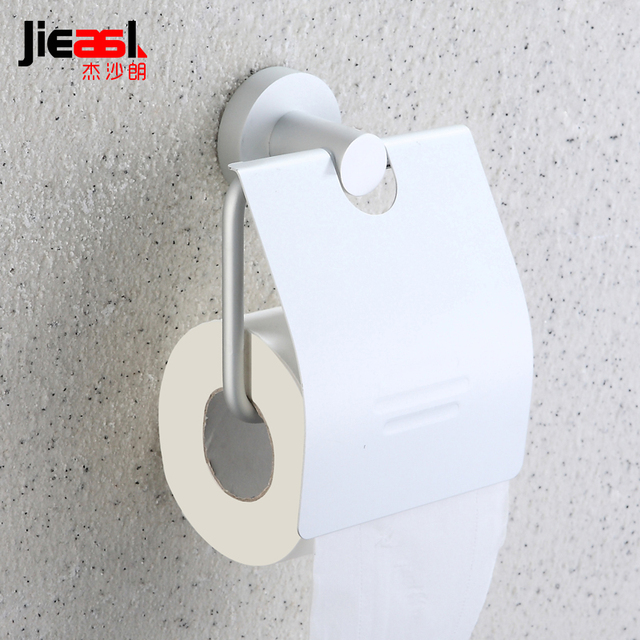 Toilet Paper Roll Part - 32: Space Aluminium Plastic Toilet Paper Holder Creative And Toilet Brush Wall  Mounted Toilet Paper Roll Holder