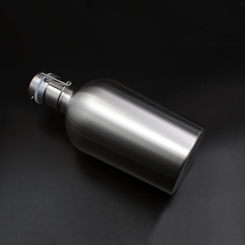 304 Stainless Steel Beer Growler 64 Oz Swing Top Bottle 1.9 L Home Brew