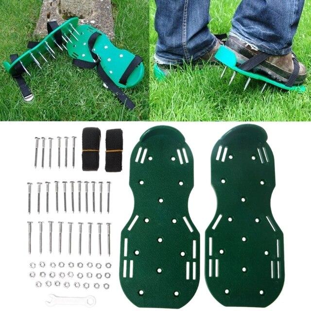 1 пара садовый культиватор скарификация газовый аэратор обувь с шипами инструмент LS'D инструмент