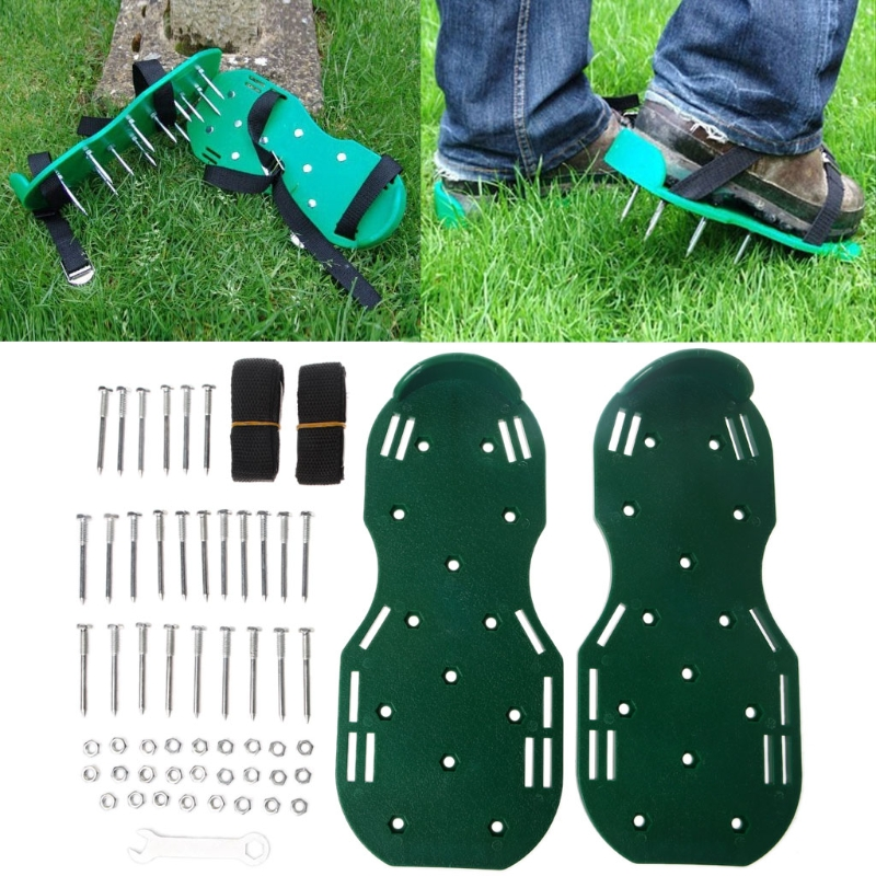 1 Pair Garden Yard Grass Cultivator Scarification Lawn Aerator Nail Shoes Tool LS'D Tool