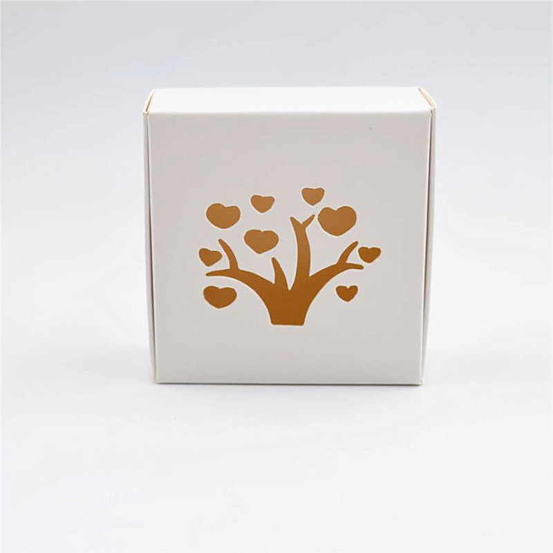 1-18 Joy, Size:9.5*9.5*3.5cm white Paper Box Handmade Soap Gift Jewel Cosmetic Jar Packaging Boxes ...