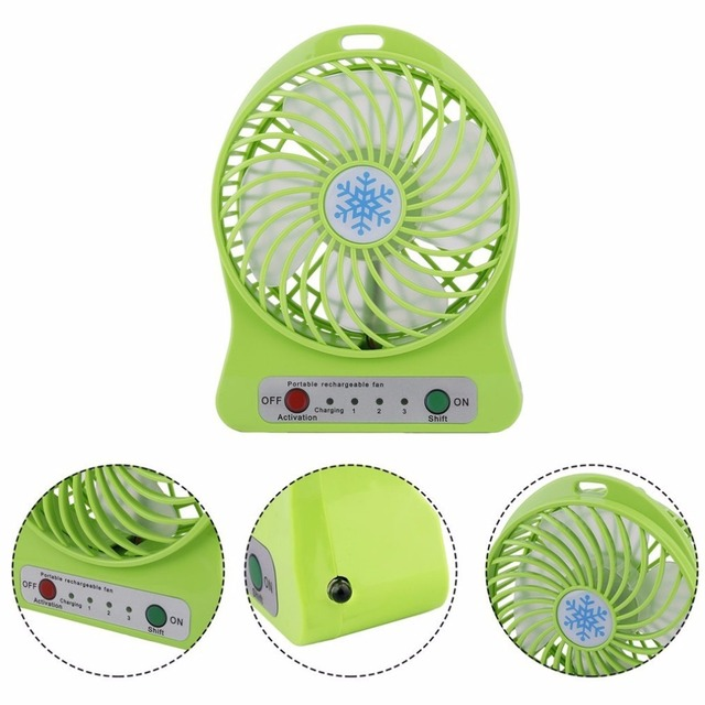 Summer Portable Mini Fan 3 Speed Adjustable Fans For Home OfficeDesk Desk Travel USB Rechargeable Fan