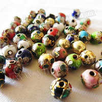 300PCS/LOT.8mm cloisonn flower lacing beads,Hand Crafted beads,DIY bracelet,Craft material.Handmade accessories.Freeshipping