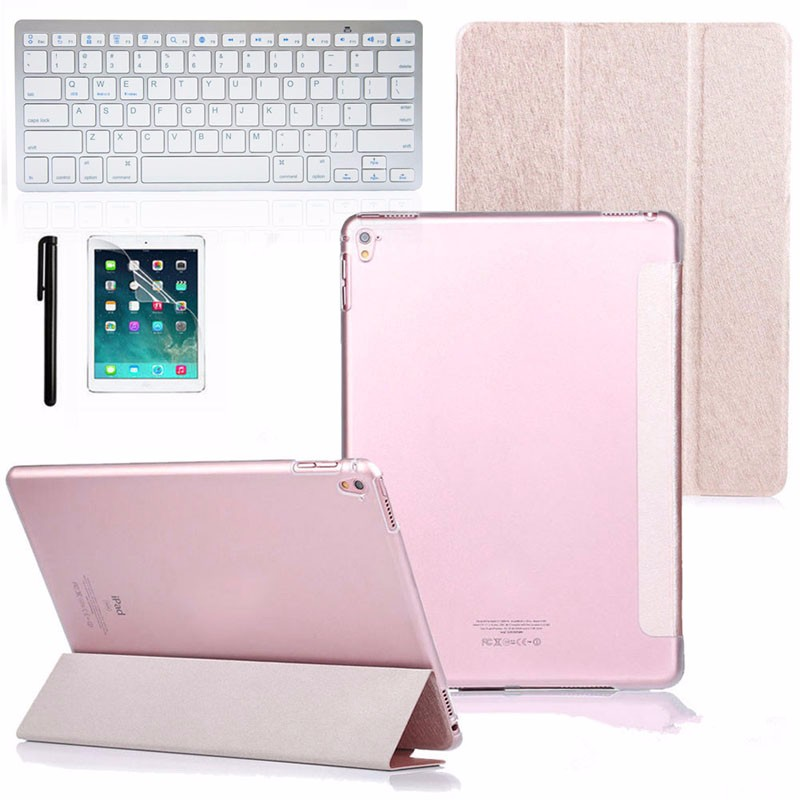 HOT Computer Accessories Faux Leather Case Cover with Bluetooth Wireless Keyboard for iPad Pro 9.7 Gift