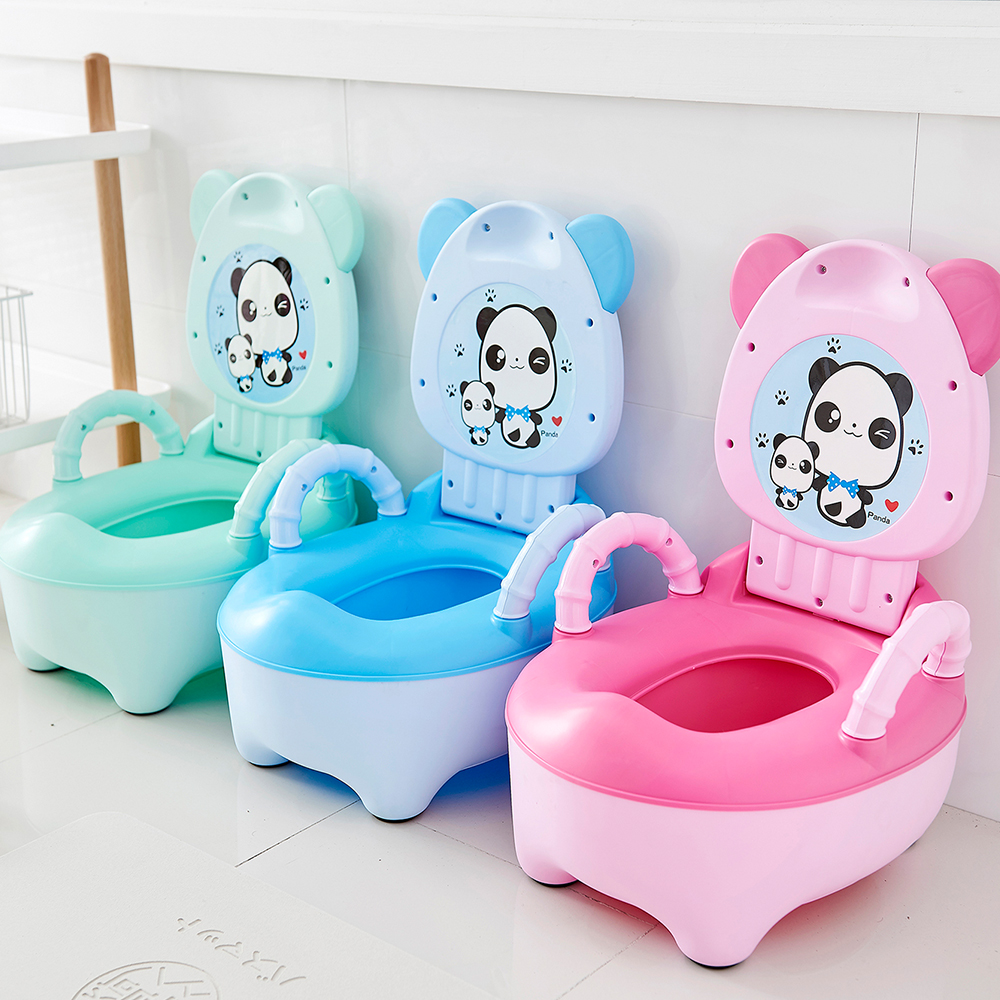 Baby Potty Toilet Bowl For Children Portable Pot Baby Potty Training Toilet Seat Bedpan Comfortable Backrest Cartoon Cute Pots