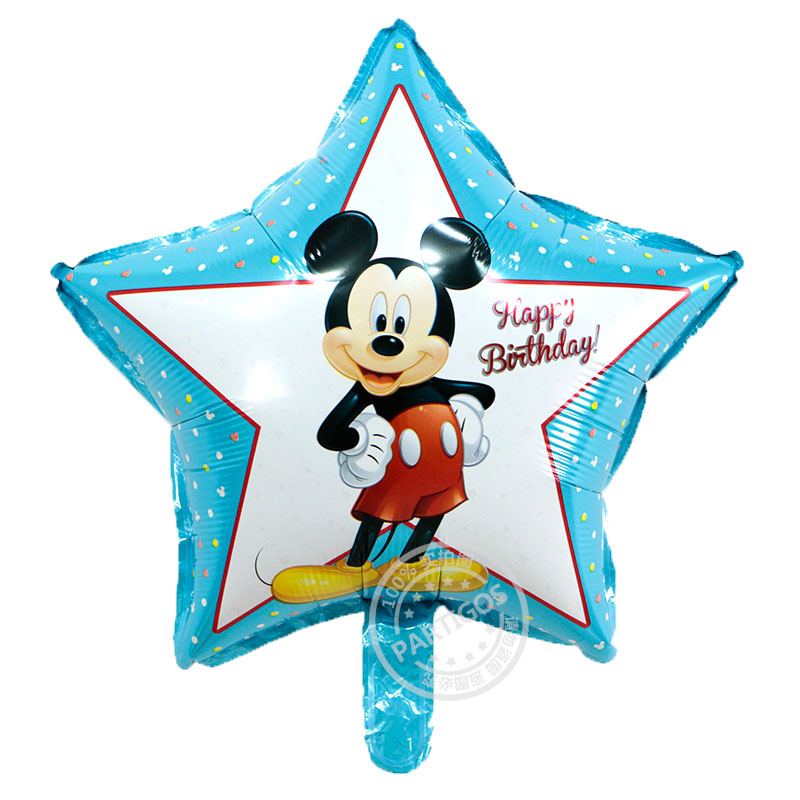 50pcs/lot 45*45cm star mickey minnie mouse helium balloons party decoration infl