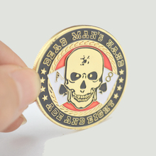 Pressing Metal Poker Cards Guard Protector Token Coin Poker Chips with Plastic Cover Souvenir Coin Dead Man's Hand
