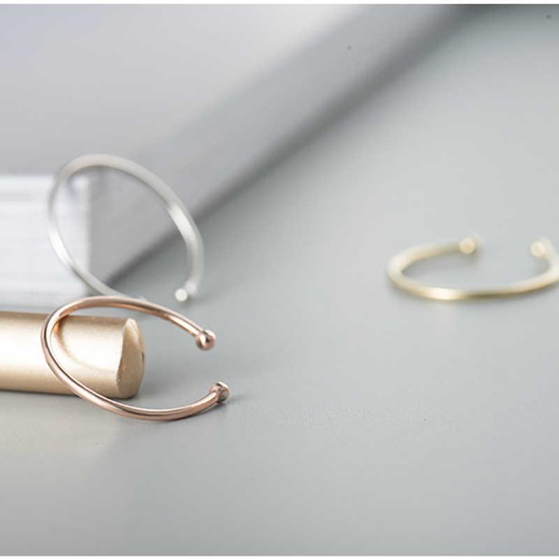 BALMORA 925 Стерлинговое Серебро темперамент кольцо с камнем Открытые Кольца для женщин Девушка Простые Модные ювелирные изделия Anillos JWHYR0059