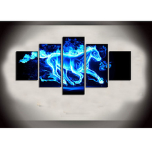 HUGE MODERN ABSTRACT WALL DECOR ART OIL PAINTING ON CANVAS no frame Blue horse Home Decoration
