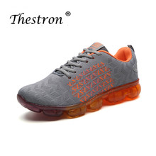 Thestron Summer Men Outdoor Sports Shoes New Cool Trainers Mesh Mens Designer Sneakers Gray White Athletic Running Shoe
