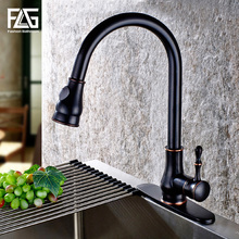 2016 pull out kitchen faucet, oil rubbed bronze pull down sink faucet, black  kitchen tap torneira cozinha kitchen mixer tap все цены
