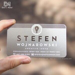 Image 3 - התאמה אישית קעור קמור מגזרת איכות נירוסטה עסקים מתכת כרטיס מתכת כרטיס ביקור מתכת כרטיס חבר desig