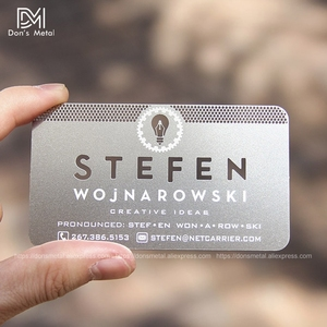 Image 3 - Personalizing concave convex cutout  quality stainless steel business metal card Metal business card metal membership card desig