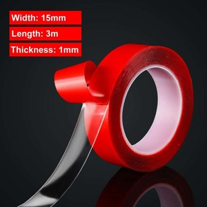 15mm*3m*1mm Red Double Sided A