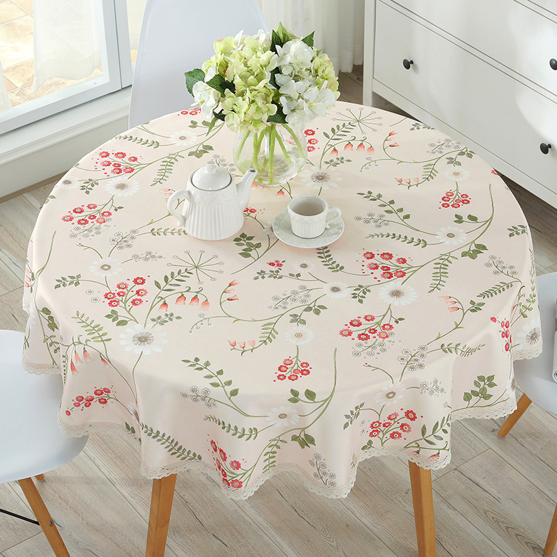 European Table Cloth Cotton Linen Dining Decorated Mediterranean Style Can Wash The Tablecloth Oil and Water